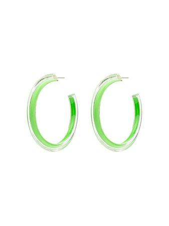 Alison Lou Jelly Hoop Earrings ALOUCITEJELLYMED Green | Farfetch
