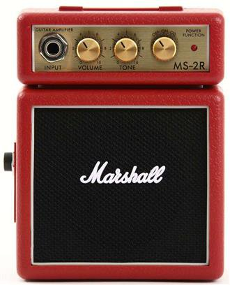 Marshall Amplification: MS2R Micro Guitar Amplifier Red Portable | Musicroom.com