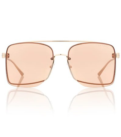 Square metal sunglasses