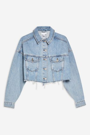 Hacked Blue Denim Jacket | Topshop