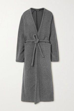 Belted Wool-blend Coat - Gray