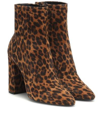 Lou 100 Suede Ankle Boots - Saint Laurent   Mytheresa
