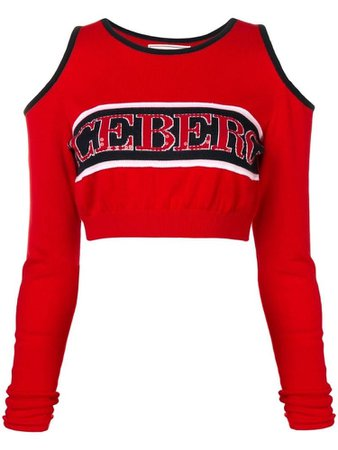 ICEBERG logo knitted cropped top