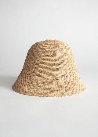 Straw Bucket Hat - Beige - Hats - & Other Stories