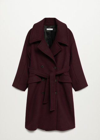 Wool double-breasted coat - Women | Mango USA