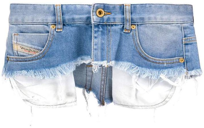 distressed mini skirt belt