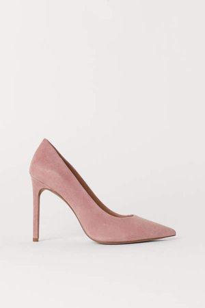 Suede Pumps - Pink