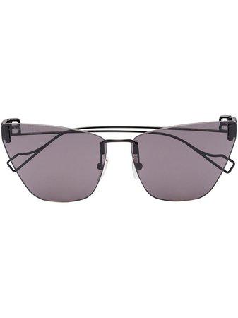 Balenciaga Eyewear Light cat-eye frame sunglasses black BB0111S - Farfetch