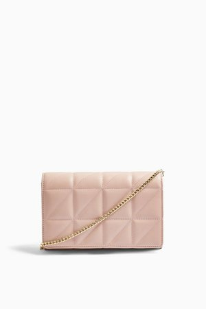 Pink Quilted Clutch Bag | Topshop