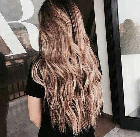 brunette, long hair e blond imagem no We Heart It
