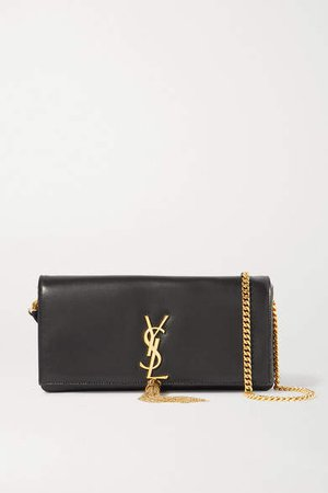 Kate Leather Shoulder Bag - Black