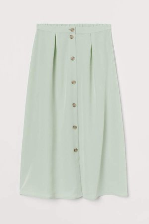 Creped Skirt - Green