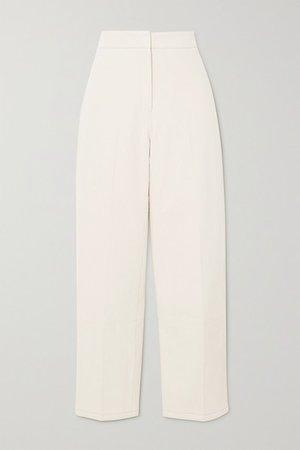 Cotton-twill Tapered Pants - Cream