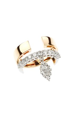 18k White & Pink Gold Strada Ring By Yeprem | Moda Operandi
