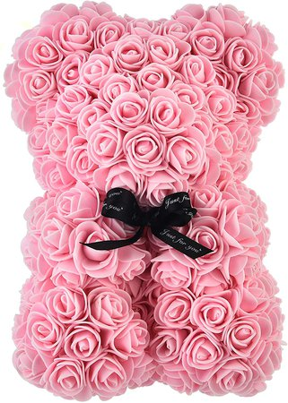 Amazon.com: Artificial Flowers Rose Bear,Rose Teddy Bear, Flower Bear Cub, Forever Rose Everlasting Flower for Window Display, Anniversary Christmas Valentines Gift (Light Pink): Home & Kitchen