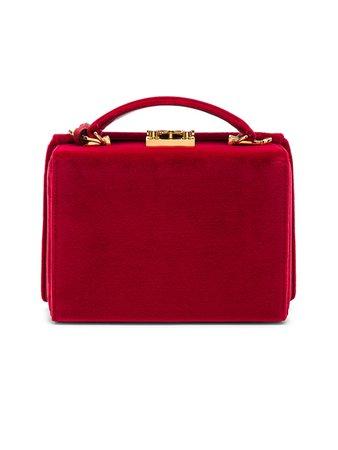 Mark Cross Small Velvet Grace Box Bag in Red | FWRD