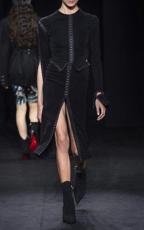 Midi Stretch Crepe Hook Dress