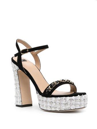 Elisabetta Franchi chain-link sandals