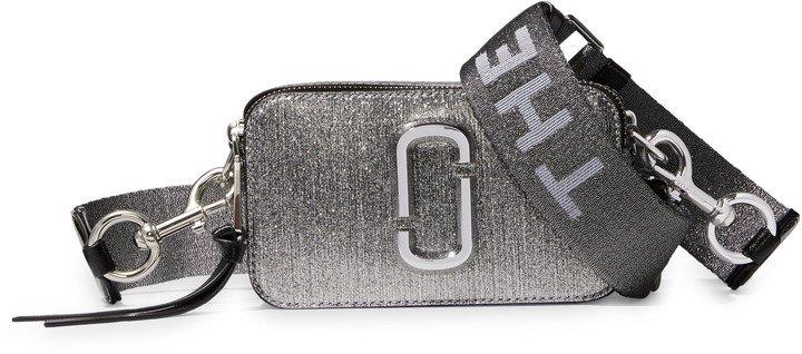 Snapshot Metallic Leather Crossbody Bag
