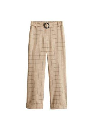 MANGO Check pants