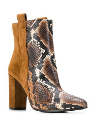 Via Roma 15 Contrast Ankle Boots - Farfetch