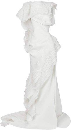 Maticevski Serene Tiered Crepe De Chine Gown