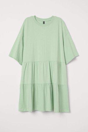 Cotton T-shirt Dress - Green