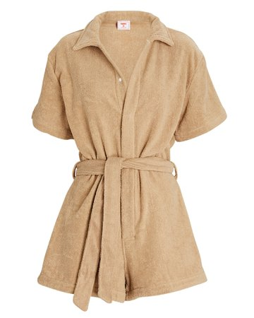 Terry Cotton Terry Romper   INTERMIX®