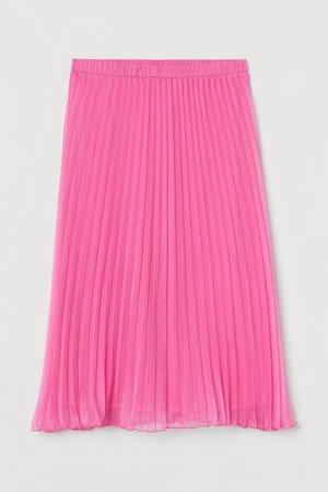 Pleated Skirt - Cerise - Ladies | H&M US