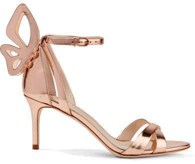 Madame Chiara Metallic Leather Sandals - Rose gold