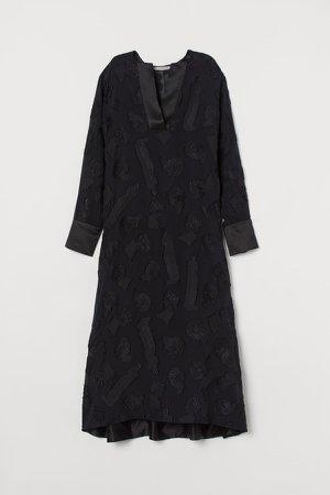 Silk-blend Dress - Black