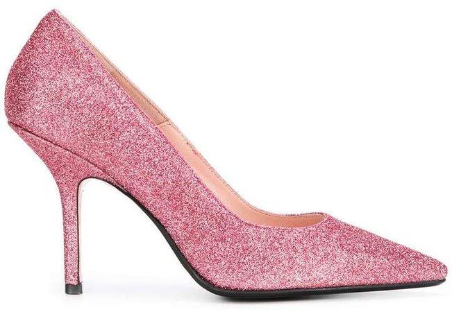 Anna F. glitter stiletto pumps