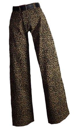 leopard wide legs