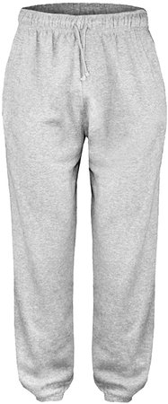 Raiken Men's Fleece Joggers Track Cuffed Bottoms Plain Trouser Sweat Jogging Pant: Amazon.co.uk: Clothing