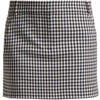 Gingham Mini Skirt - Womens - Black White