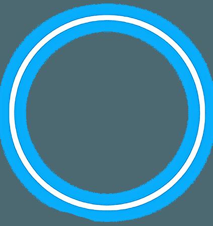 spiral blue neon circle glow light freetoedit...