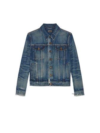 Saint Laurent Saint Laurent Classic Denim Jacket - California Blue - 11172516 | italist