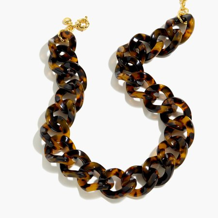 J.Crew: Tortoise Chainlink Necklace For Women