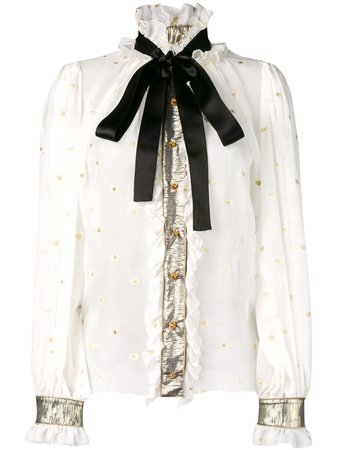 Dolce and Gabbana Embellished Victorian Shirt