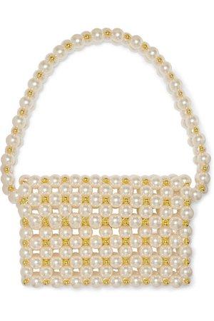 Vanina   Reveries faux pearl and gold-tone beaded shoulder bag   NET-A-PORTER.COM