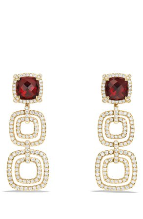David Yurman Châtelaine® Pavé Diamond Bezel 18K Gold Convertible Drop Earrings | Nordstrom
