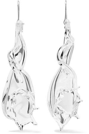 Maryam Nassir Zadeh   Conch silver-tone earrings   NET-A-PORTER.COM