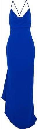 Asymmetric Draped Crepe Gown