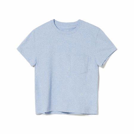 Women's Organic Cotton Box-Cut Pocket Tee | Everlane blue