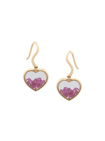 Aurelie Bidermann Chivor Heart Earrings