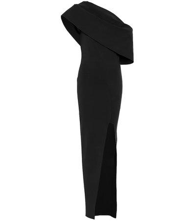 Stretch knit gown black dress