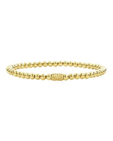 Lagos Medium 6mm Caviar Ball Stretch Bracelet