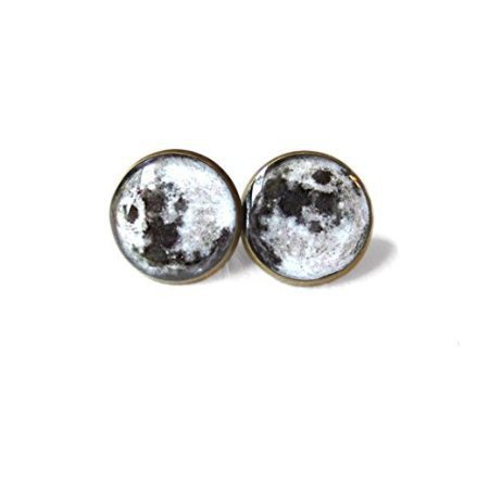 Amazon.com: Moon Stud Earrings, Pastel Goth Grunge Boho Jewelry, Boho Chic Hippie Outer Space Bohemian Jewelry, Gypsy Moon Earrings, FREE BOX