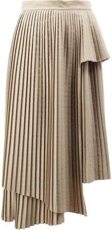 Rokh asymmetric pleated skirt