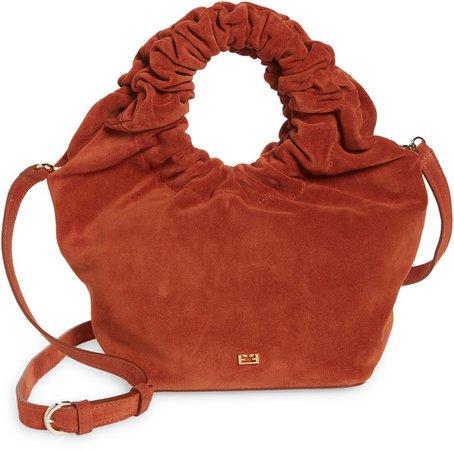 Le Scrunch Mini Leather Crossbody Bag